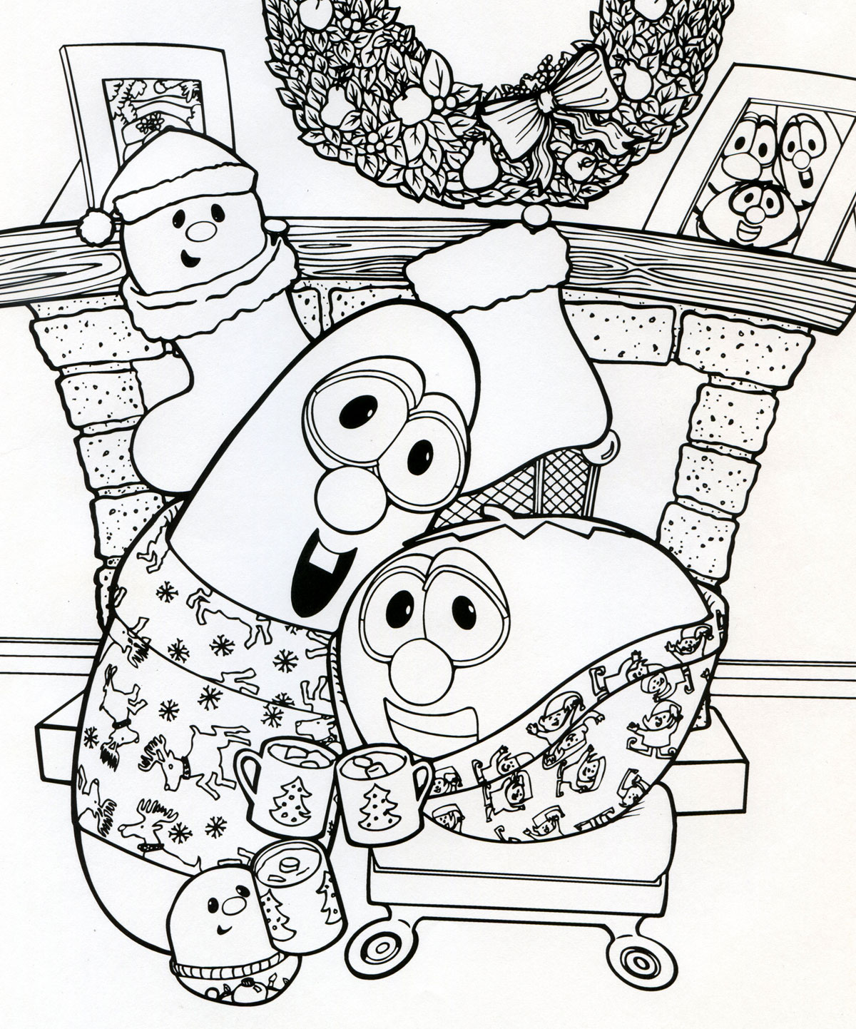 veggie tale christmas coloring pages - photo#4