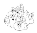 veggie tales madame blueberry coloring pages | Licensing Work | jody nilsen ~ illustration | Jody Nilsen